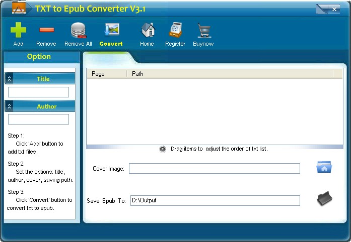 Epub Reader for Windows, Epub to pdf converter, EPUB Builder